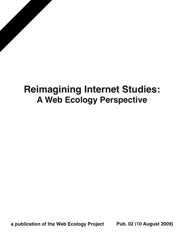 Reimagining Internet Studies