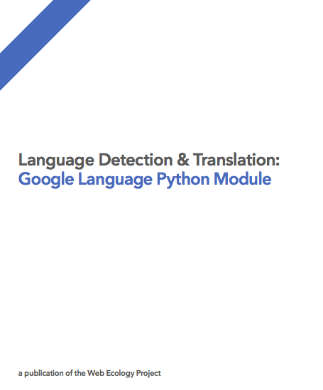 Google Language Python Module