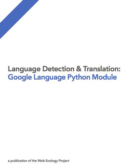Google Language Python Module